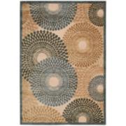 Nourison® Pinwheels High-Low Carved Rectangular Rugs