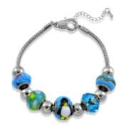 Dazzling Designs™ Penguin Artisan Bead Bracelet