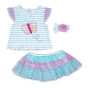 Nanette Baby 3-pc Set - Baby Girls 3m-9m