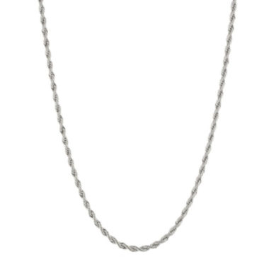 jcpenney.com | Mens 4mm Stainless Steel Rope Chain