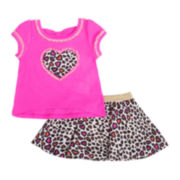 Little Lass Tee and Skort Set - Toddler Girls 2t-4t