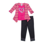 Little Lass Cozy Top and Jeggings Set - Toddler Girls 2t-4t