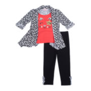 Little Lass Cozy Top and Leggings Set - Toddler Girls 2t-4t