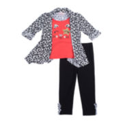 Little Lass Cozy Top and Leggings Set - Preschool Girls 4-6x