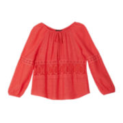 by&by Girl Lace Peasant Top - Girls 7-16
