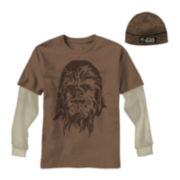 Star Wars Shaggy Wookiee Graphic Tee with Beanie - Boys 8-20