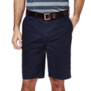 Haggar® Eclo™ Straight-Fit Flat-Front Shorts