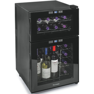 jcpenney.com | Wine Enthusiast® Silent 24-Bottle Dual-Zone Touchscreen Wine Refrigerator