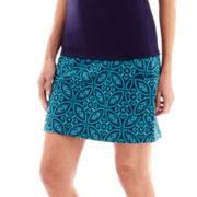 Made For Life™ Print Jersey Knit Patch Pocket Skort - Tall