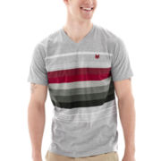 Zoo York® Rise and Stripe V-Neck Tee