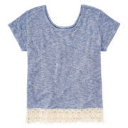 Arizona Crochet-Hem Top - Girls 7-16 and Plus