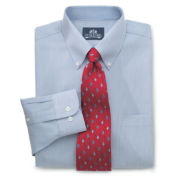 Stafford® Performance Pinpoint Oxford Dress Shirt with Button-Down Collar
