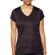 Xersion™ Recycled Mesh Essential V-Neck Tee - Tall