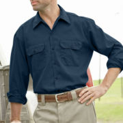 Dickies® Long-Sleeve Twill Workwear Shirt – Big & Tall