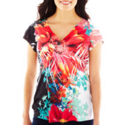 Unity® V-Neck Empire-Waist Top - Petite