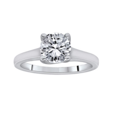jcpenney.com | 1¼ CT. Round Certified Diamond Solitaire 14K White Gold Ring
