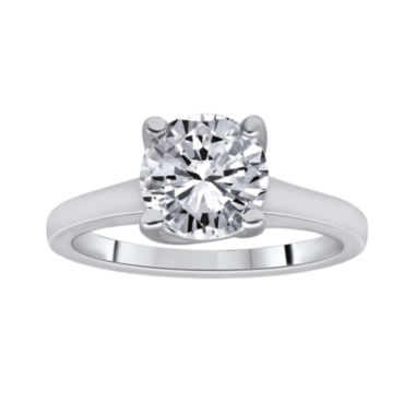 jcpenney.com | 1½ CT. Round Certified Diamond Solitaire 14K White Gold Ring