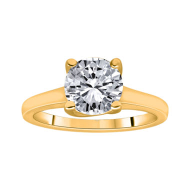 jcpenney.com | 1½ CT. Round Certified Diamond Solitaire 14K Yellow Gold Ring