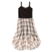 Sally M™ Sally Miller Sleeveless Studded High-Low Dress - Girls 6-16