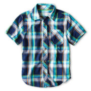 Arizona Short-Sleeve Classic Woven Shirt - Boys 6-18