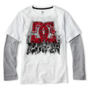DC® Raglan-Sleeve Layered Tee - Boys 8-20