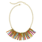 Decree® Multicolor Seed Bead Fringe Necklace