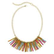 Decree® Multicolor Seed Bead Fringe Necklace