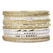Decree® 16-pc. Textured Gold-Tone Bangle Set