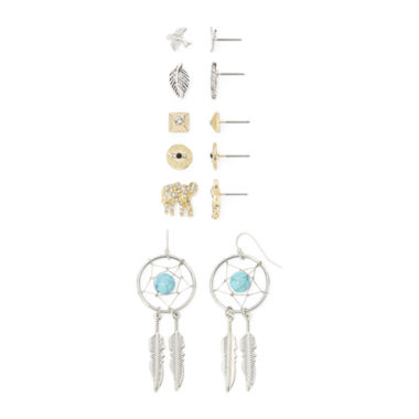 jcpenney.com | Decree® 6-pr. Multicolor Stone Earring Set