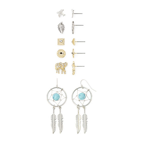 Decree® 6-pr. Multicolor Stone Earring Set