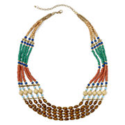 Arizona Multicolor Wood Bead Multi-Row Necklace