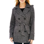 Details Fleece Pea Coat