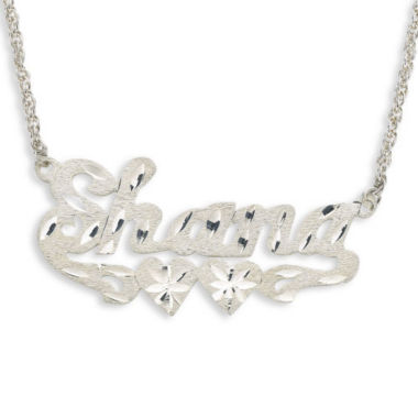 jcpenney.com | Personalized Diamond-Cut Sterling Silver Name Necklace