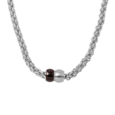 jcpenney.com | Mens Stainless Steel and Black IP Braided Chain Necklace
