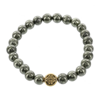 jcpenney.com | Dee Berkley Mens Genuine Pyrite Bead Stretch Bracelet