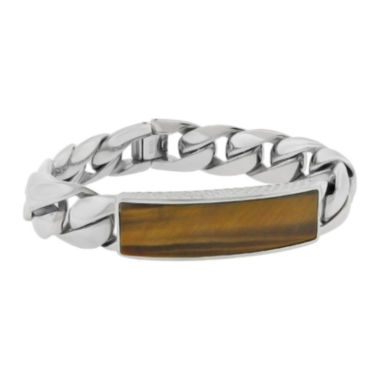 jcpenney.com | Mens Genuine Tiger's Eye Stainless Steel ID Bracelet