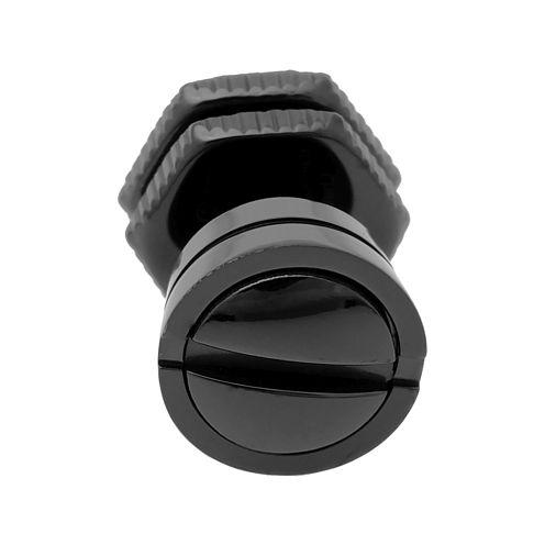 Mens Stainless Steel & Black IP Stud Earring