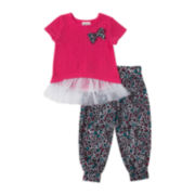 Little Lass Bow Tee and Jogger Pants Set - Preschool Girls 4-6x