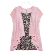 Knit Works Tunic, Cardigan and Necklace - Girls 7-16 and Plus