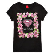 Super Girl Graphic Glitter Tee - Girls 7-16