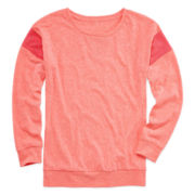 Xersion™ Long-Sleeve Mesh Inset Top - Girls 7-16 and Plus