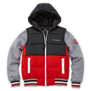 Waterproof Hooded Puffer Vest Jacket - Boys 8-20