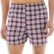 Hanes® 4-pk. Woven Boxers + BONUS pair