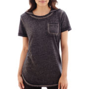 Silverwear® Short-Sleeve French Terry Hooded Pullover - Petite
