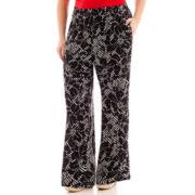 Worthington® Wide-Leg Print Soft Pants - Plus