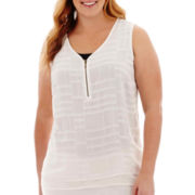 Worthington® Zipper Tank Top - Plus