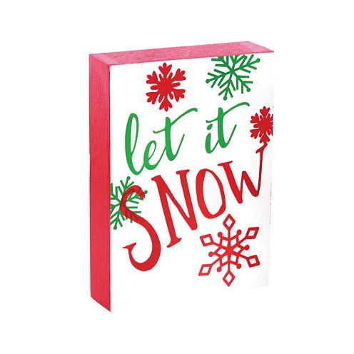 Let It Snow Tabletop Tree