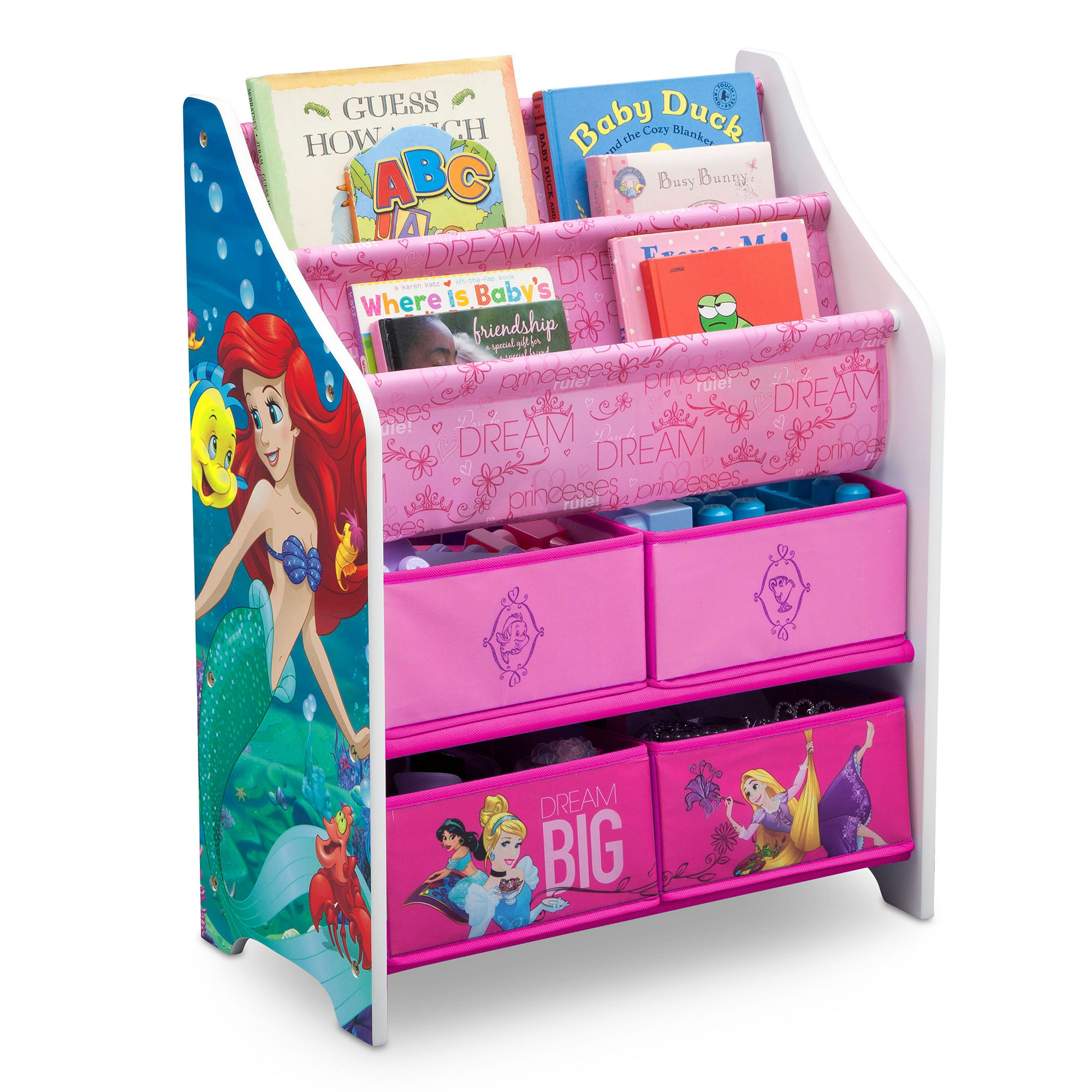 Upc 080213056452 disney princess book toy organizer for Toy and book storage