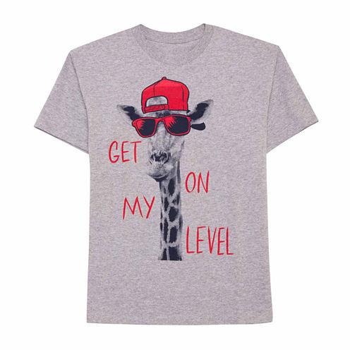 Oneliners Short Sleeve Crew Neck T-Shirt-Big Kid Boys