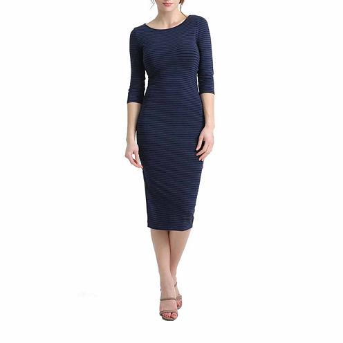 Phistic Leona 3/4 Sleeve Bodycon Dress